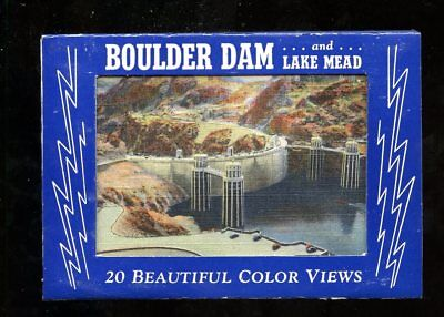 T857 Teich Souvenir Miniature Postcards 20 views Boulder Dam Lake Mead