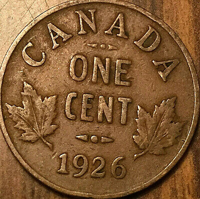 1926 Canada Small Cent Penny Small 1 Cent Coin