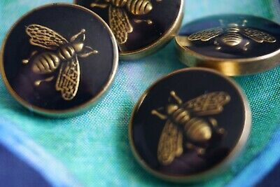 ❤100% Gucci  BUTTONS lot 4  Logo CC 16  mm 0, 6 inch metal small Bee