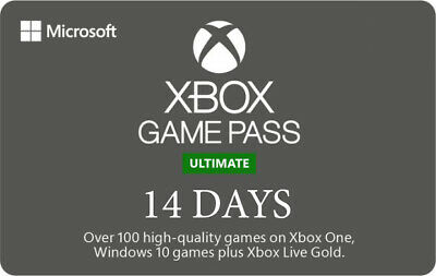 Xbox Game Pass Ultimate, 14 Day Membership, Xbox One / Win 10 PC