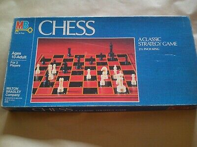 Vintage Chess Set By MB Games Complete With Rules Classic Strategy Game Family