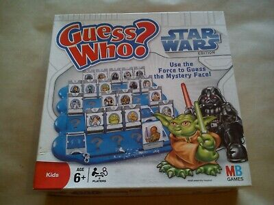 Guess Who Star Wars By MB Games Hasbro Classic Kids Game Family Darth Vader Toys