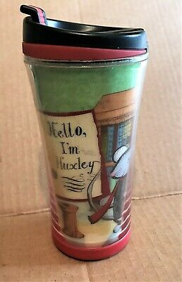 Starbucks 2010 Hologram Kids 8 Oz Travel Mug Hello I'm Huxley