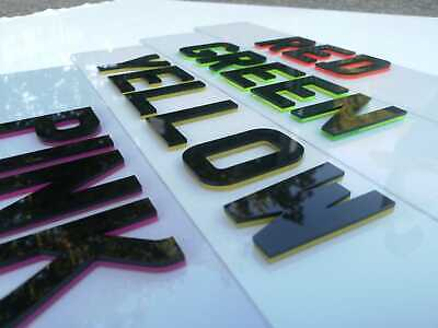 4d crystal registration plates / pair front and rear