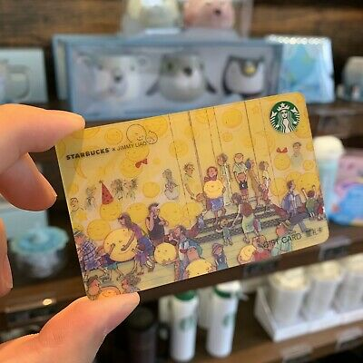 Starbucks 2019 China Jimmy Crossover Street Version Used Card Pin UnCovered