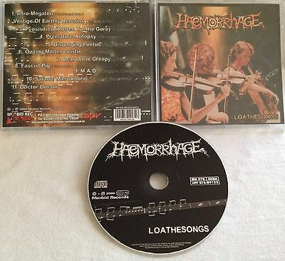 Haemorrhage - Loathesongs CD 2000 MORBID MR 070 exhumed carcass morgue impaled