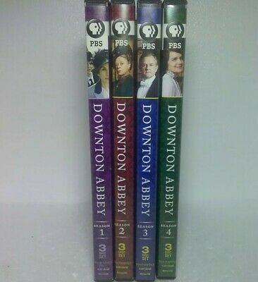 Downton Abbey: Seasons 1 thru 4 (12 DVDs) Excellent Condition Only Viewed Once