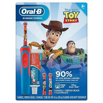 Oral-B Rechargeable Toothbrush + Kids Crest Toy Story