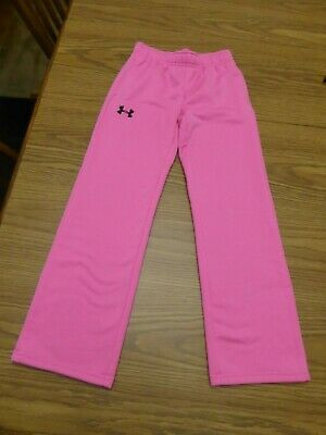 Under Armour Girls Youth Small Storm Fleece Pants Pink Excellent Pre Owned Cond