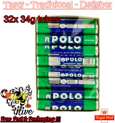 NESTLE POLO ORIGINAL MINTS TUBE - PACK OF 32 × 34g - EXPIRY 05/2020 - UK SELLER