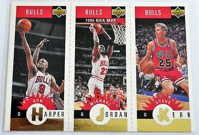 1997 Collector's Choice Gold Mini: Michael Jordan/Kerr/Harper- Chicago Bulls