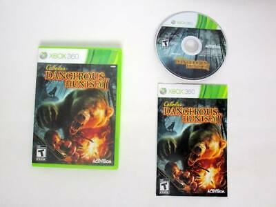 Cabela's Dangerous Hunts 2011 game for Microsoft Xbox 360 -Complete