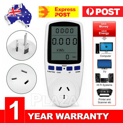 240V Power Meter Energy Monitor Consumption Watt Electricity Usage Tester AU