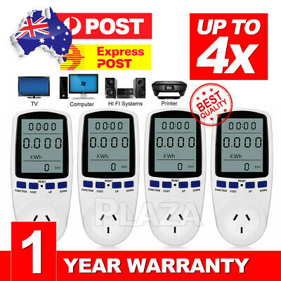 NEW AU Plug Power Energy Consumption Watt Meter Electricity Usage Test Equipment