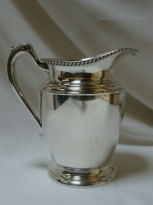 Vintage Silver Water Pitcher 3155 Pedestal silver overlay