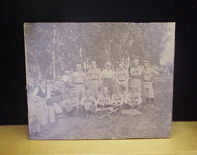 Vintage Cabinet Card Lyons Baseball Team 19th Century Photo