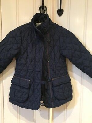 Girls Next Navy Blue Quilted Jacket Age 5-6