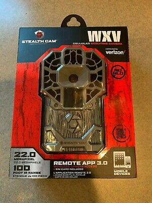 Stealth Cam WXV Cellular Wireless Trail Game Camera - VERIZON - 22MP - No Glo