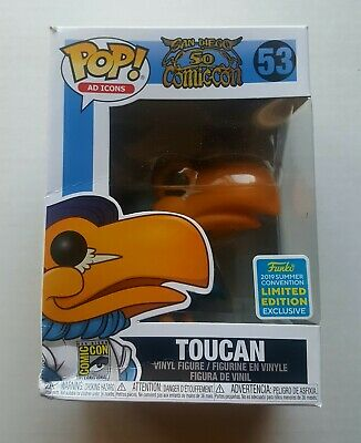 Funko POP Ad Icons: Toucan SDCC Mascot 2019 SDCC Exclusive - DAMAGED BOX