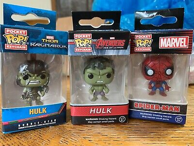 FUNKO POP KEYCHAIN LOT! Marvel Collectors Corp Hulk, Age of Ultron Hulk & more