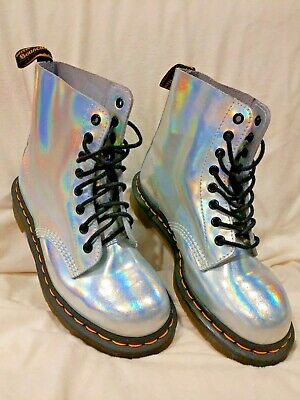 quality good quality sale retailer DR MARTENS PASCAL IRIDESCENT metallic holographic leather ...