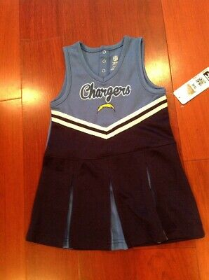 Football Los Angeles Chargers 12 Mo Cheerleader Cheer Outfit Dress NFL