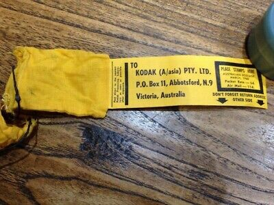VINTAGE 1960 Kodak Film Processing Old Photography Mailing Bag **Mint Cond*