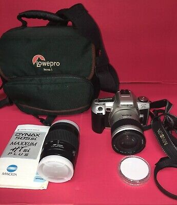 MINOLTA 35MM FILM Camera W/ Bag Maxxum 430si RZ Zykkor Lens