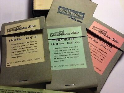 Vintage 1950's Synthacolor Photographic Correction Filters by British Synthacol