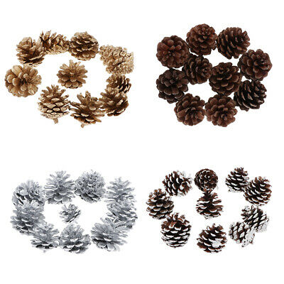10pcs 4cm Natural Dried Pine Cones Acorns Floral Craft DIY Christmas Decors