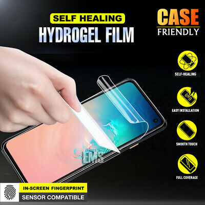 For Samsung Galaxy S7 Edge S8 S9 S10 Plus HYDROGEL Full Cover Screen Protector