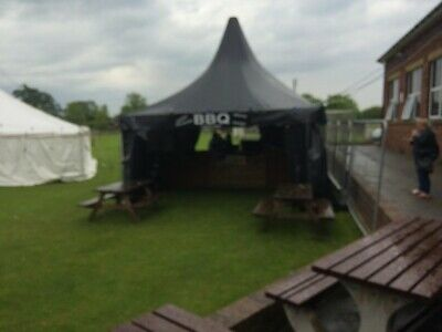 5 X 5 Heavy Duty Black Marquee Made By Roder Germany Ideal Catering Parties BBQ