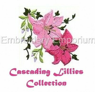 Cascading Lillies Collection - Machine Embroidery Designs On Cd Or Usb