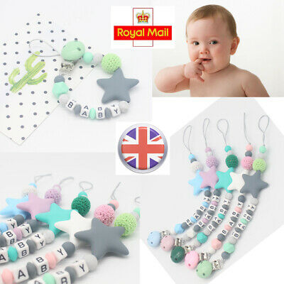 Dummy Clips Baby Teeth Chain Holder Pacifier Teething Strap Silicone Beads Gifts
