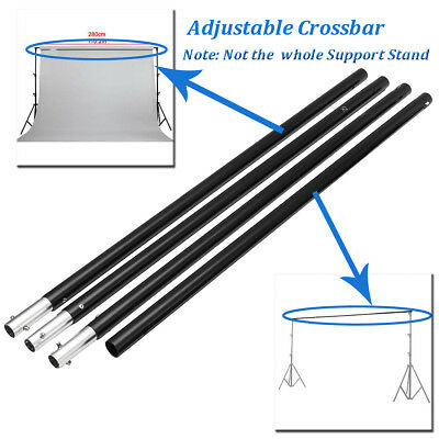 2.8M Adjustable Background Crossbar Kit Support Stand Photography Backdrop Bar