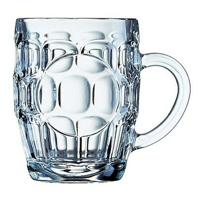 Engraved Dimple Beer Glass