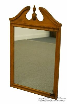"ETHAN ALLEN Heirloom Nutmeg Maple 36x23"" Dresser / Wall Pediment Mirror 10-5000"