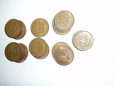 20  Old  Half Penny Coins   1960 - 1967