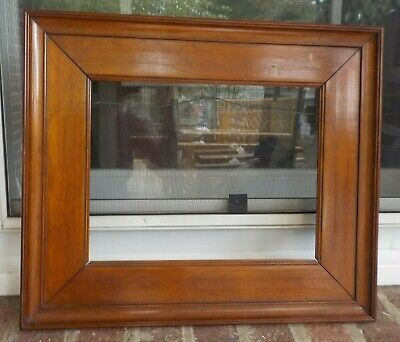 Antique American FEDERAL Walnut Flat Panel FRAME 8 3/4 x 11 3/8 in.fit c1850-60s