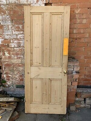 Reclaimed Victorian 4 panel stripped pine door79 inches x 31.75 inches x 1.75