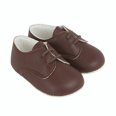 Babypods UK made Baby Boys Spanish Style Romany Traditional Brown Pram Shoes