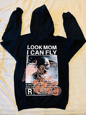 Travis Scott Look Mom I Can Fly Hoodie Black Sz Small *IN HAND*