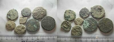 ZURQIEH -as13299- LOT OF 8 ANCIENT BRONZE BYZANTINE COINS