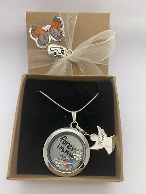 Baby Loss Miscarriage Memorial Gift Floating Charm Necklace