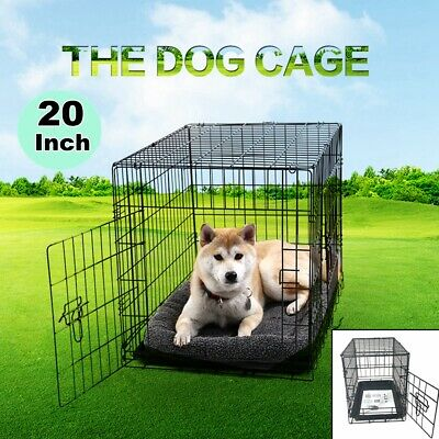 Small Pet Kennel Cat Dog Folding Steel Crate Animal Playpen Metal Cage Outdoor