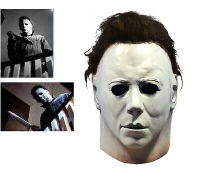 Halloween Michael Myers Mask Movie Horror Cosplay Adult Latex Full Face Prop T