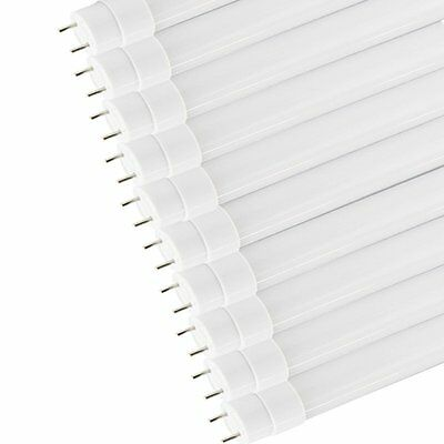 """T8 G13 Base 48""""4ft 18W Daylight LED Single Ended Power Frosted Fluorescent Bulbs"""