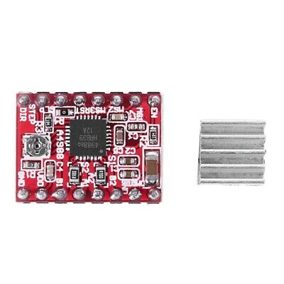 5X(1 x Red CCL 3D Printer Expansion Board A4988 Driver with a radiator X9H8)