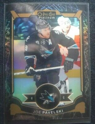 2015-16 OPC Platinum BLACK ICE Rainbow **JOE PAVELSKI** SP! /99 San Jose 2016 UD