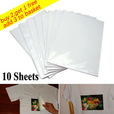 10Pcs A4 Heat Transfer Paper for T-Shirt Painting Iron-On Paper DIY Light Fabric